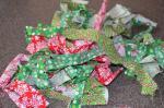chritmas fabric scraps