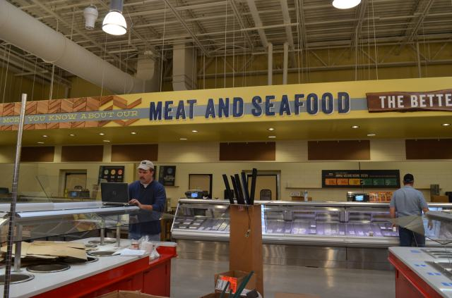 Whole foods Seafood and meats